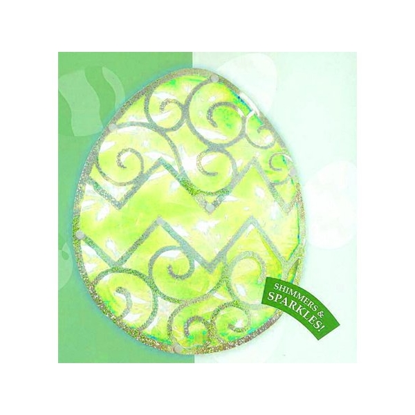 "Northlight ""12"""" Lighted Green Easter Egg Window Silhouette Decoration"""
